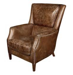 Arm Chair Leather Chelsea Classic Masculine Room Distressed Cigar Leather