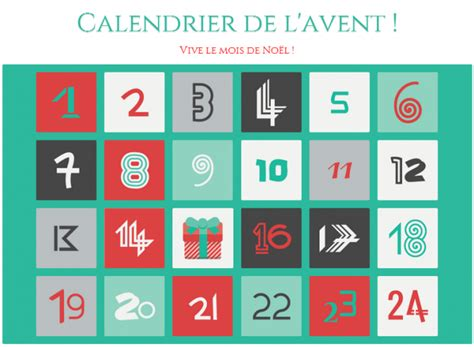 Avent Calendrier Calendrier Avent