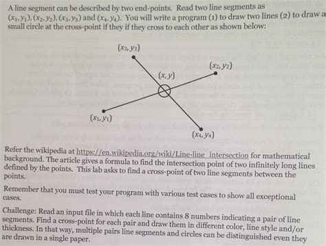 Can I Repeats Segments From My Essay In Mba by Solved A Line Segment Can Be Described By Two End Points