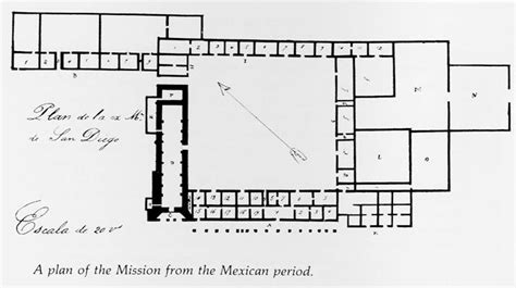 mission san diego de alcala floor plan the changing face of mission san diego san diego history