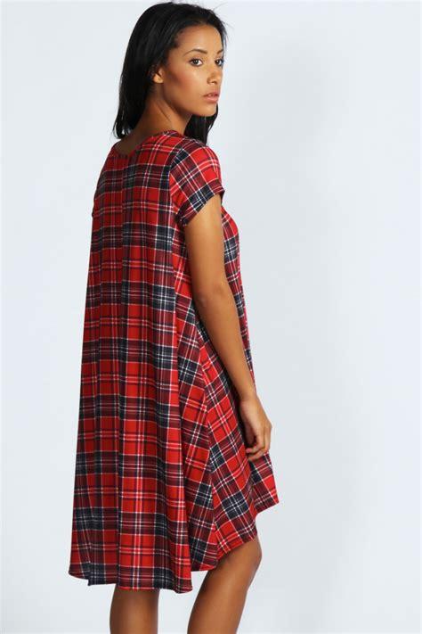 red tartan swing dress simone tartan swing dress red red online shopping
