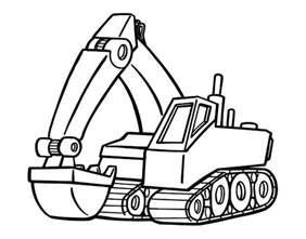 100 Ideas Printable Excavator Coloring Pages On Syaiecom Sketch Template