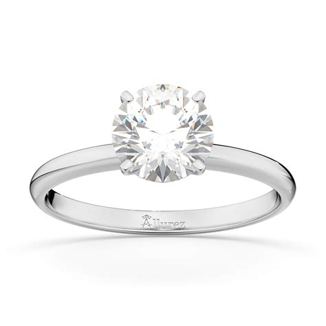 four prong palladium solitaire engagement ring setting ur145