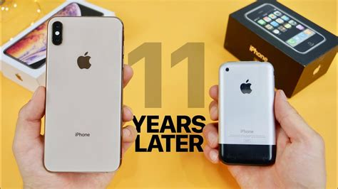 iphone xs max vs original iphone 2g 11 year comparison