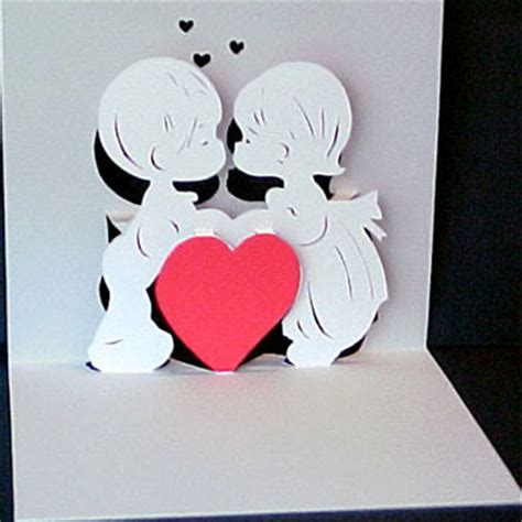 pattern pop up love valentine pop up card pattern and design pepakura corner