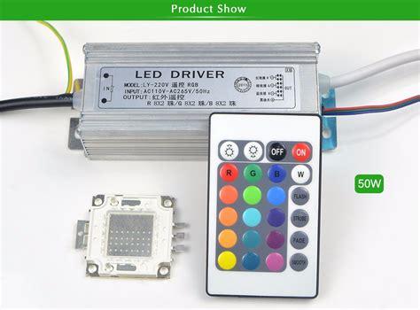 Lu Hias Led 1set Adaptor Remote rgb integrated cob led chip led bulb 10w 20w 30w 50w rgb