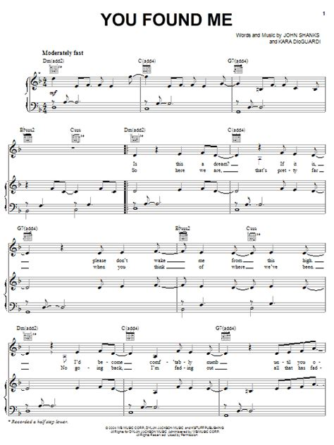 You Found Me Piano Chords Gallery Finger Placement Guitar Chord Chart