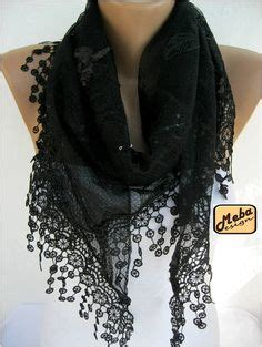 clever carriage company quot quot black lace scarf wrap sew on and sew forth black