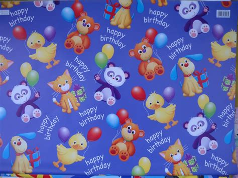 kids designs boys girls gift wrapping paper 2 sheets childrens