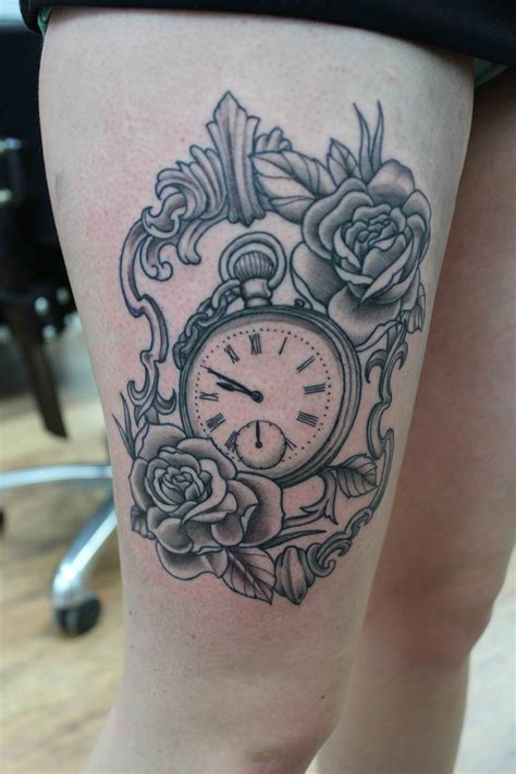 pocket watch and rose tattoo design pocket tattoos designs ideas and meaning tattoos