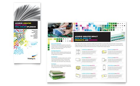 Printing Company Brochure Template Word Publisher Microsoft Publisher Brochure Template