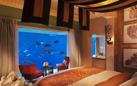 atlantis resort underwater rooms hotel underwater the neptune suite at atlantis the palm travel leisure