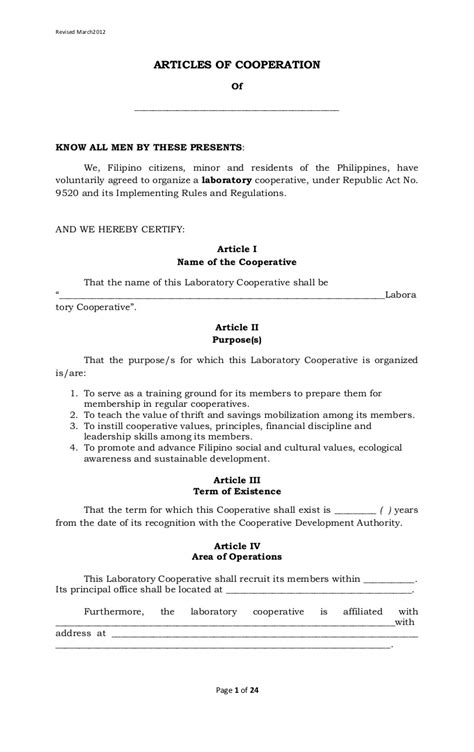 affidavit of loss sss id template laboratory cooperative article of cooperation and by laws