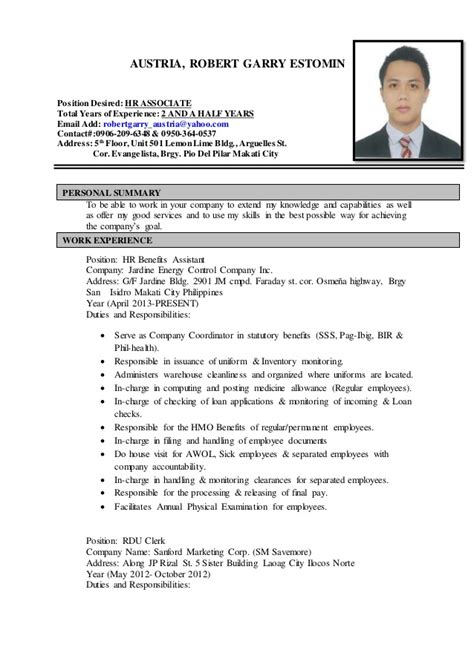 Sample Resume With Position Desired by Resume