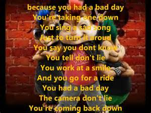 Bad Day From Alvin And The Chipmunks Alvin And The Chipmunks Bad Day Whit Lyrics