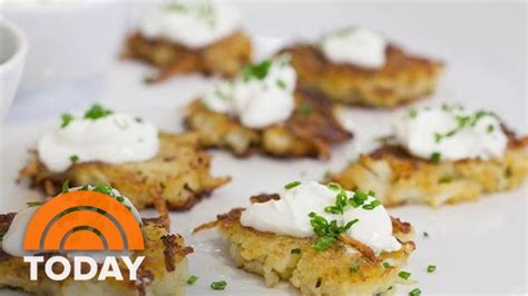 ina garten appetizers ina garten makes holiday appetizers potato pancakes fig