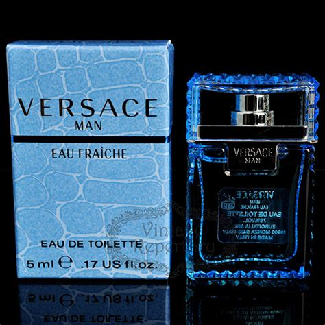 man eau fraiche by versace edt mini perfume cologne for mens 017 oz versace man eau fraiche perfume eau de toilette mini