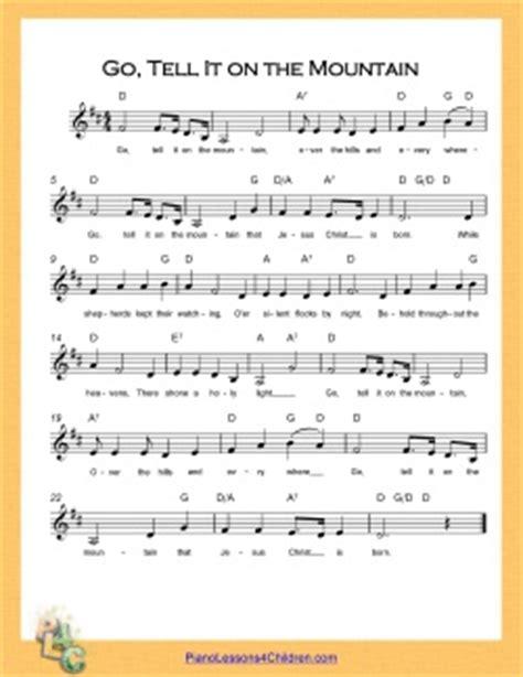 printable lyrics god on the mountain go tell it on the mountain lyrics videos free sheet
