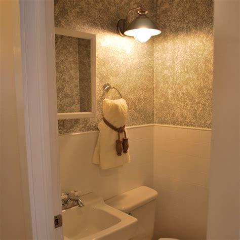 Bathroom Wall Ideas Pinterest Sponged Wall Paint Sliver Rental Bathroom Did It