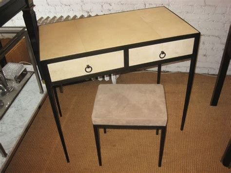 beautiful parchment desk at 1stdibs parchment covered vanity desk style of jean michel