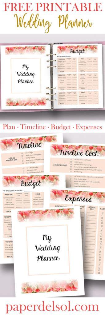 free printable wedding planner book online free printable wedding planner for wedding binder