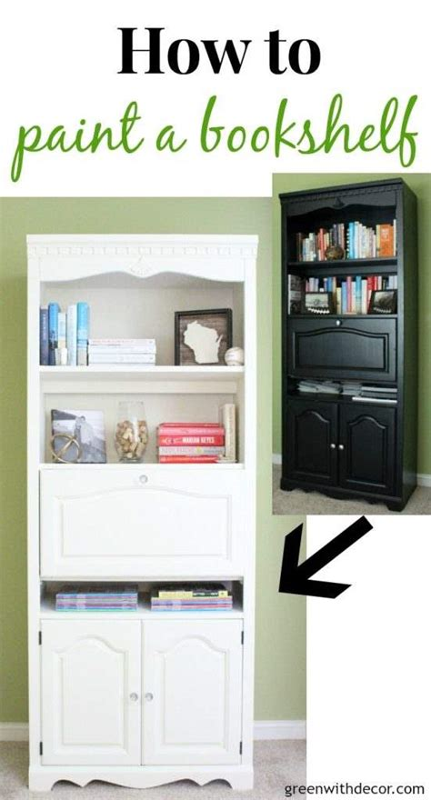 spray paint bookshelf how to paint a bookshelf spray or paint by hand green with decor