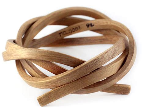 Recycled Wooden Wedding Ring From Gustav Reyes by Gustav Reyes Wood Bracelets Rings Are Wearable