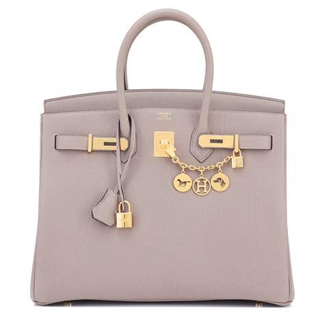 Richards And Hermes Birkin Bag by Hermes Birkin Bag 35cm Gris Asphalte Togo Gold Hardware