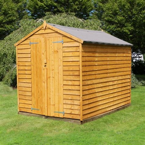 Shed Doors Prices by 10 X 8 Windowless Value Overlap Apex Wooden Shed With