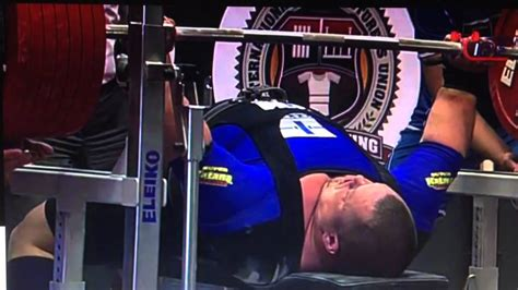 bench world record fredrik smulter 400kg 882lbs bench press world record