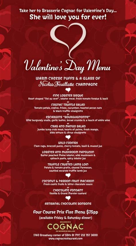valentines day menu valentines day menu images 2016 2017 b2b fashion