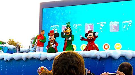 sing   merry christmas disneys enchanted christmas  disneyland paris youtube