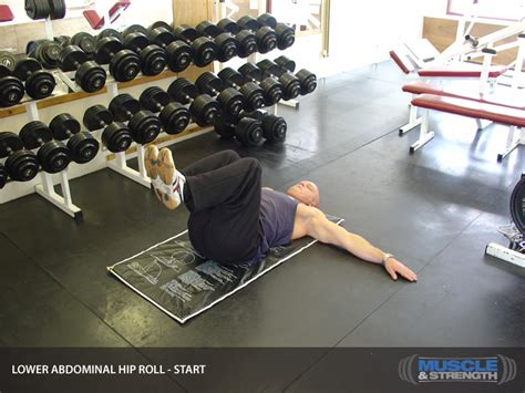 abdominal hip roll video exercise guide tips