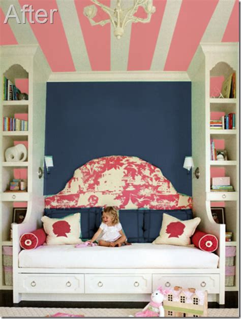 Navy Pink Bedroom by Remodelaholic Pink And Navy S Room Idea