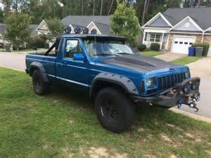 1988 jeep comanche custom jeep comanche 4x4 blue and black mud truck custom