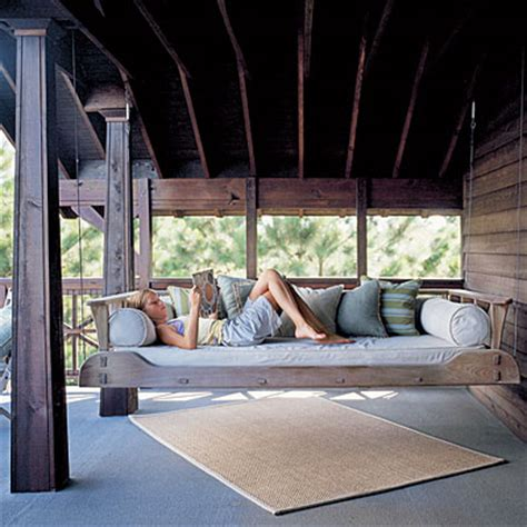 hanging a porch swing beautiful hanging porch beds home inspiration