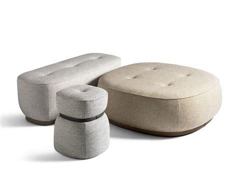 pouf poltrona frau lepli fabric pouf the collection sofa and armchairs