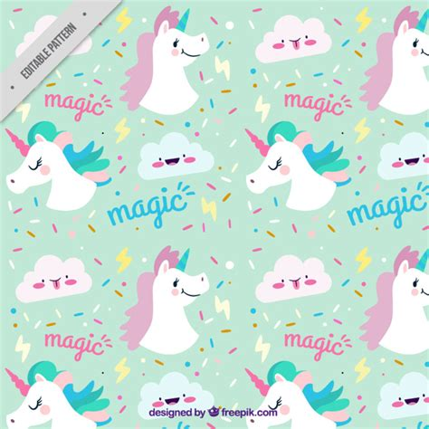 unicorn pattern background unicorn pattern vector free download