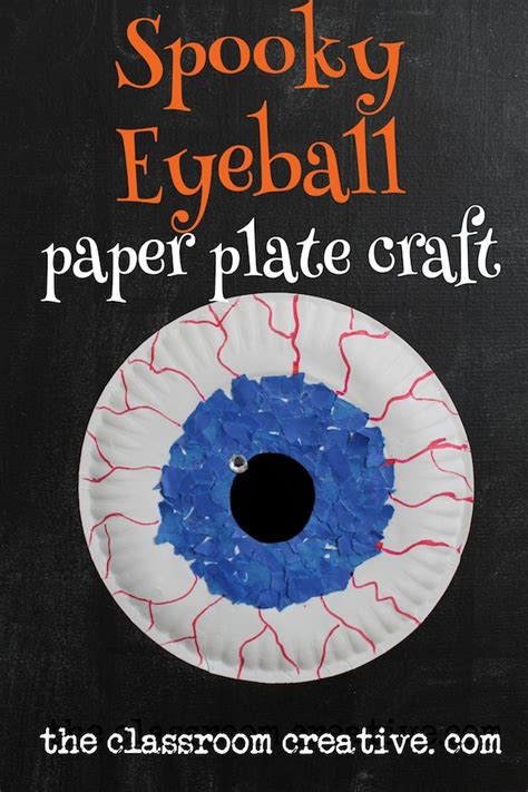 spooky crafts paper plate spooky eyeball craft