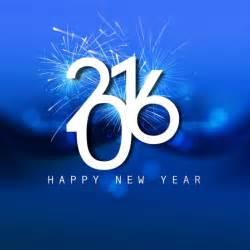 shiny blue new year 2016 card vector free