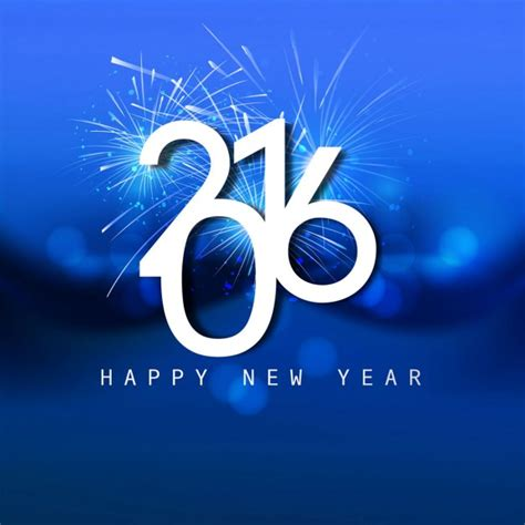 new year 2016 vector free shiny blue new year 2016 card vector free