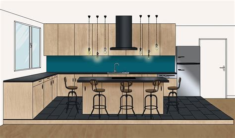 Cuisine Avec Ilot Central 18 by Plans D Architecte Pour Un 238 Lot De Cuisine De R 234 Ve