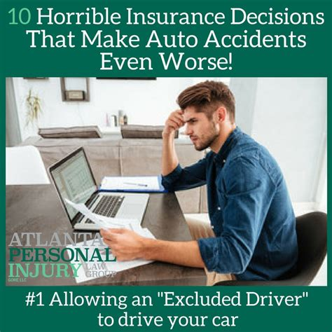 Car Insurance Personal Injury 1 by 10 Horrible Insurance Decisions That Make Auto Accidents