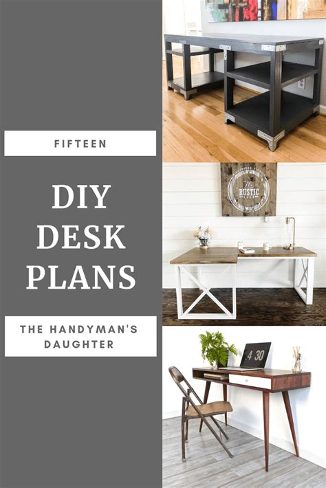 diy office desk plans 15 diy desk plans to build for your home office the handyman s