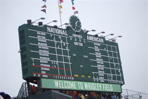 Fields Of Green Original Board wrigley field at 100 shedding some light on the friendly
