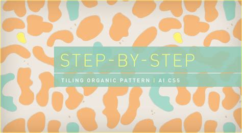 ai apply pattern step by step how to make a tiling organic pattern in