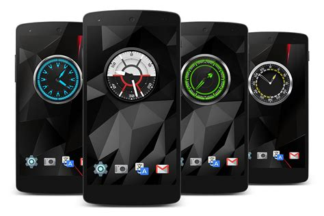 analog clock widgets for android cool analog widgets
