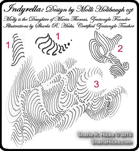 zentangle pattern indy rella the s and c curve in zentangle gallery artist sharla r