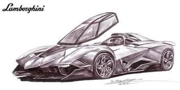 Drawing Lamborghini Lamborghini Egoista Single Seater Drawing By Toyonda On