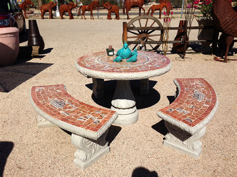 Concrete Patio Table Set Products Loya S Courtyard